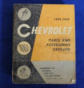 Vintage 1929 1959 Chevrolet Parts And Accessories Catalog Book Auto Truck