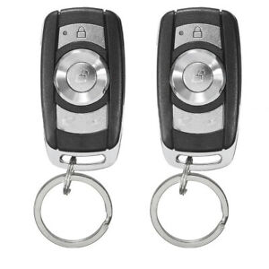 1set Car Remote Control Central Kit Door Lock Locking Keyless Entry System Black