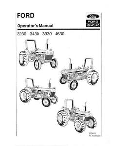 New Holland Ford 3230 3430 3930 4630 Tractor Se4810 Operator s Manual