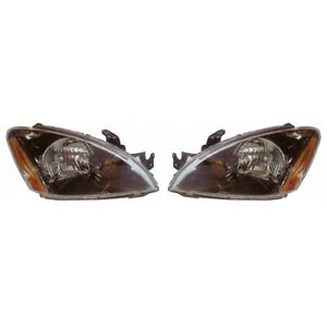 Fits 2004 2007 Mitsubishi Lancer Head Light Pair Side