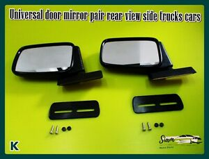 With For Universal Door Mirror Pair Rear View Side Trucks Cars Pickup Si553