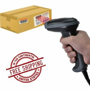 Automatic Barcode Scanner Gun Handheld Laser Reader Usb Cable For Lable Pos