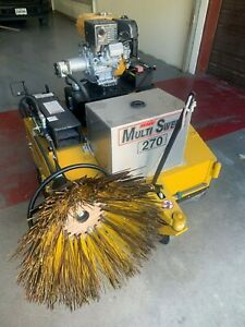 Multisweep 270 Gasoline Industrial Lifttruck Sweeper W Kerb Brush Assembly