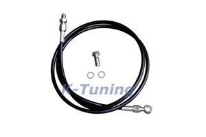 Black Braided Clutch Line For Honda Civic 1992 00 Acura Integra Stainless Steel