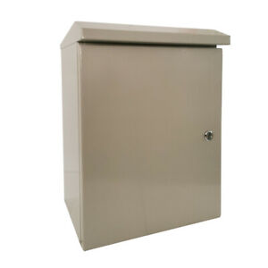 20 X 16 X 10 In Carbon Outdoor Steel Electrical Enclosure Cabinet Ip65