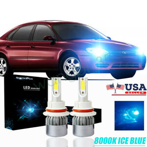 2x 8000k Led Headlight Bulb High Low Beam For Ford Taurus 2000 2007 Super Bright