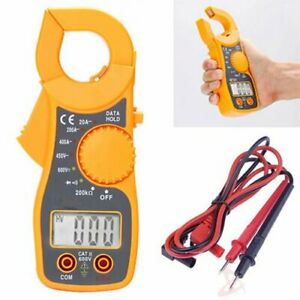 Portable Lcd Digital Clamp Ampere Ac Dc Voltage Multi Meter Current Tester