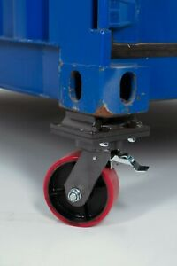 Two Cargo Container Wheel Casters W Brake Twist Lock 3 Ton Free Shipping