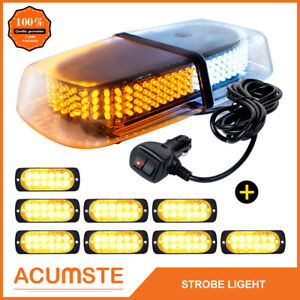 240 Led Emergency Roof Warning Strobe Light Amber White 8pcs 12 Led Lights New