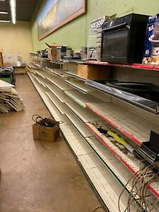 Lot Of Gondola Shelving 250ft Orlando Area extra Shelves
