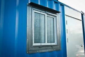 Cargo Container 3 X 3 Security Window Steel Mesh Ez Install Free Shipping