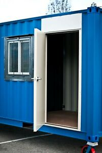 Cargo Container Hd Steel Entry Door Window Kit Easy Install Free Shipping