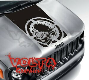 Vinyl Hood Decal Compatible With Jeep Renegade Blackout Metal Mulisha Graphic
