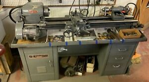 South Bend Precision Metal Cabinet Lathe Flame Hardened 12 Speed
