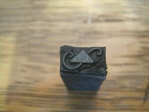 Letterpress Printing Printer Block Press Metal Type Decorative S With Triangle