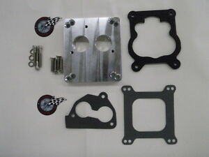 4 bbl Holley Q jet Carburator To Tbi adapter plate 2 For 454 Tbi