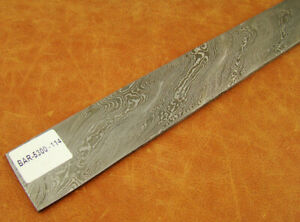 Xl Alistar Hand Forged Twisted Damascus Steel Billet Bar Knife Making 5300