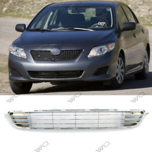 Fits 2009 2010 Toyota Corolla Front Bumper Lower Chrome Grille Grill New