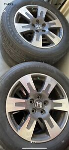 Set Of 4 Take Off 18 Oem Honda 2017 Ridgeline And Pilot Rims tires tpms