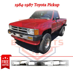 Front Bumper Steel Chrome For 1984 1987 Toyota Pickup