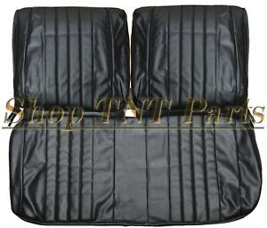 1968 Chevelle Seat Covers Front Bench Upholstery Skins Black Vinyl