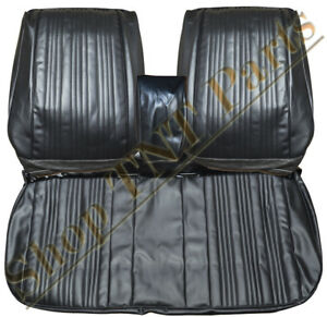 1967 Gto Seat Covers Front Split Bench Upholstery Skins Black Lemans