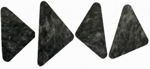 Hood Insulation Pad Flat Fiberglass 4pc For 1966 67 Ford Fairlane Grey black