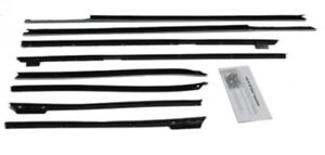 Window Sweeps Felt Kit Weatherstrip For 1967 1968 Chevrolet Impala Convertible