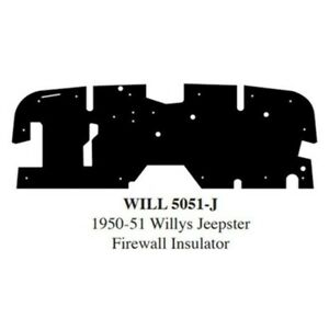 Firewall Sound Deadener Insulation Pad For 1950 1951 Willys Jeepster