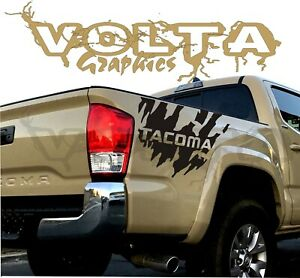2x Rear Vinyl Decals For Toyota Tacoma 2004 2020 Truck Tacoma Splash Graphics
