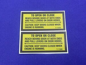 Door Latch Decal Set Fits Lincoln Pipeline Sa 200 250 Sae 300 400 All Pipeliners