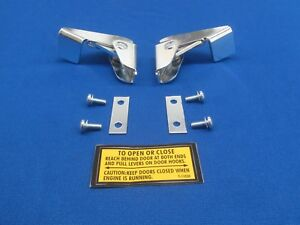 Oem Style Fits Lincoln Welder Redface Blackface Shorthood Sa 200 Door Latch Set