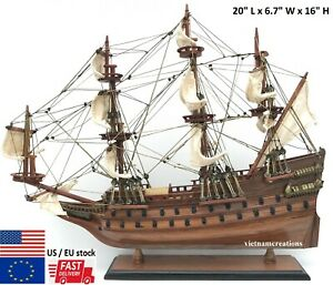 Wasa Wood Wooden Nautical Model Ship Boat 20 L Vehicle Swedish Navy Display New