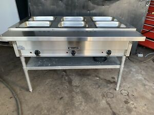 Commercial Stainless Steel Adcraft 3 Compartment Open Well Steam Table 120v