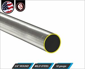 3 4 Round Tube Cold Formed Mild Steel 16 Gauge Erw 60 Inch Long 5 ft