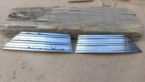 1940 Chevy Hood Front Side Trim Moldings Original Gm Pair Wiskers