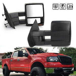 Towing Mirrors Power Heated Puddle Lights Turn Signals Fits 2007 14 Ford F150 Tz