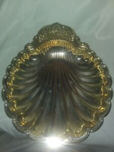Silver Plated Sea Shell 14 Serving Tray Dish Platter Unmarked