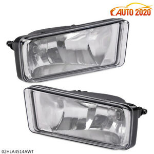 Left right Fog Lights For 07 13 Chevy Silverado Tahoe Suburban Bumper Lamps