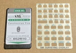 Smi Cvce V6 Surveying Card For Hp 48gx Calculator