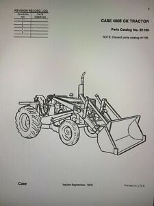 Case 480b Wheel Tractor Loader Backhoe Parts Catalog Book Manual