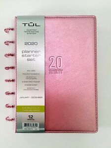 Tul Custom Note taking 2020 Planner Limited Edition Leather Millennial Pink