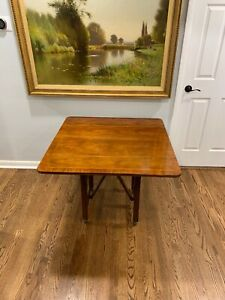Baker Mahogany Adjustable Drop Leaf Table Coffee Table Console Table Rare