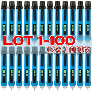 Lot 100x 12 1000v Non contact Ac Electrical Tester Pen Voltage Detector With Led