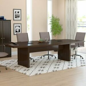 Boat Conference Table Wood Seminar Meeting Sleek Office Business Furniture New