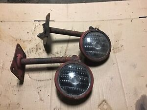 Ih Farmall Tractor 300 350 400 450 Front Lights And Mounting Brackets