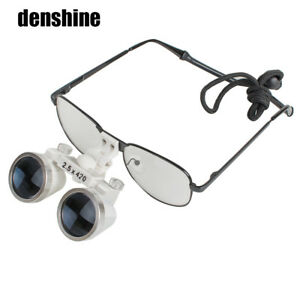 Metal Surgical Medical Binocular Loupes 2 5x 420mm Optical Glass Loupe F Dentist