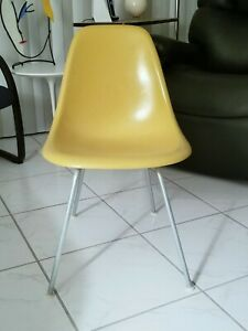 Herman Miller Yellow Ocher Side Chair With H Base 100 Original And Authentic