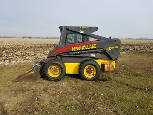 New Holland Ls180 b Skidloader Enclosed Cab With Heat And 2 Speed