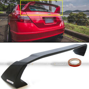 Fits 06 11 Honda Civic 2dr Coupe Unpainted Mugen Style Rr Trunk Wing Spoiler